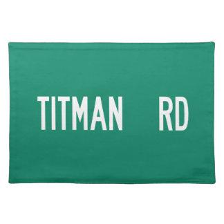 Titman Road, Street Sign, New Jersey, US Place Mats
