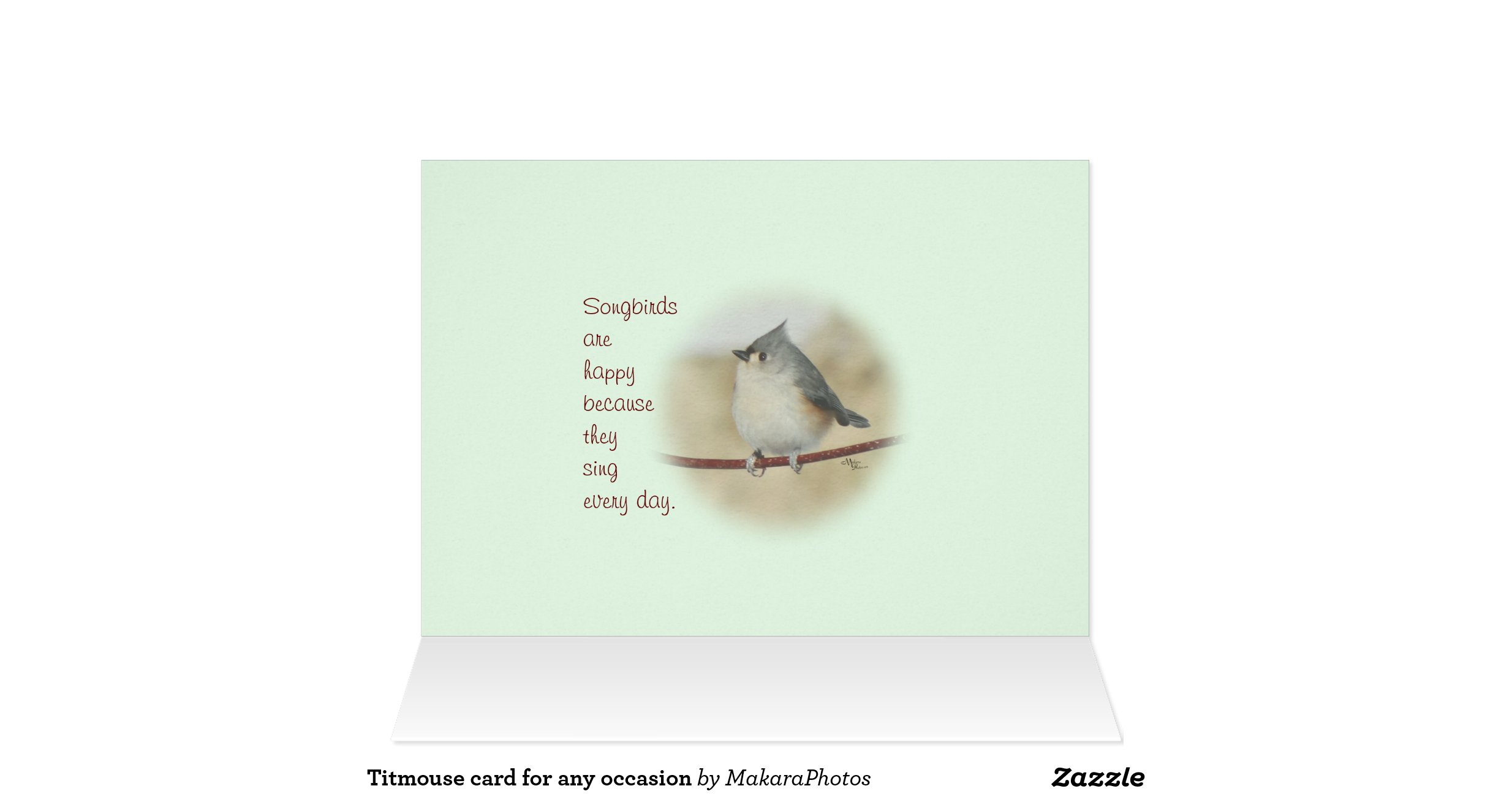 titmouse card for any occasion zazzle. Black Bedroom Furniture Sets. Home Design Ideas