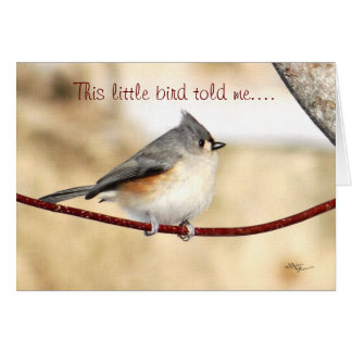 Titmouse card for any occasion