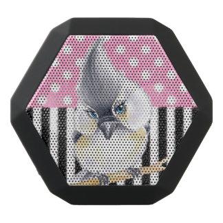 Titmouse Pink Polka Dot Black Bluetooth Speaker