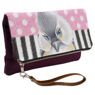 Titmouse Pink Polka Dot Clutch
