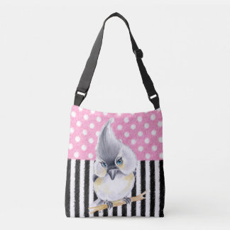Titmouse Pink Polka Dot Crossbody Bag