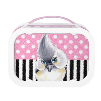 Titmouse Pink Polka Dot Lunch Box