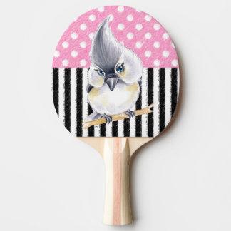 Titmouse Pink Polka Dot Ping Pong Paddle