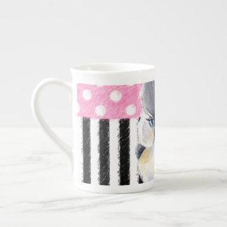 Titmouse Pink Polka Dot Tea Cup