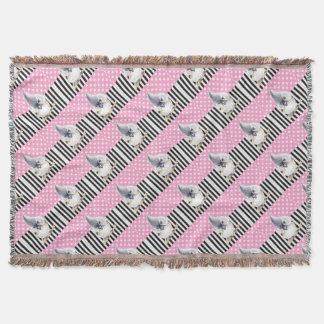 Titmouse Pink Polka Dot Throw Blanket