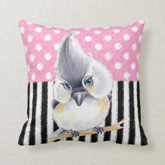 Titmouse Pink Polka Dot Throw Pillow