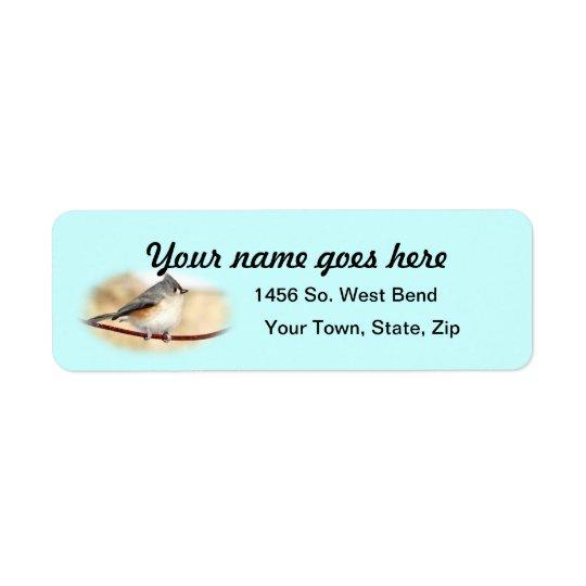 Titmouse Return Address Label- customize Return Address Label