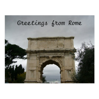titus arch postcard