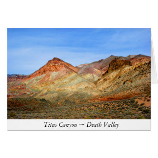Titus Canyon, Death Valley Note Card