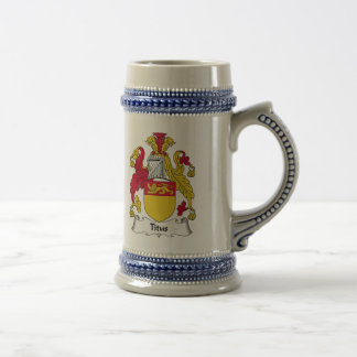 Titus Family Crest Beer Stein