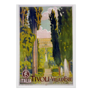 Tivoli and the Villa D'Este Poster