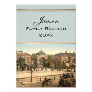 """Tivoli Park Entrance Copenhagen Family Reunion 5"""" X 7"""" Invitation Card"""