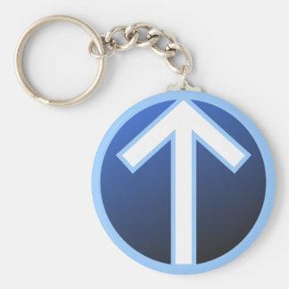 Tiwaz Teiwaz Tyr Warrior Rune Keychain