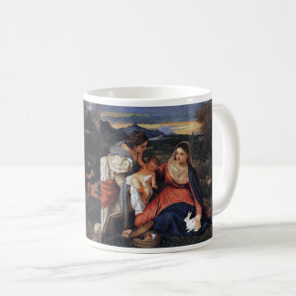 "Tiziano Vecellio, ""The Madonna with the Rabbit"" Coffee Mug"