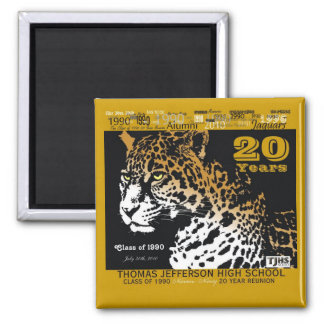 TJHS 20 Year Square Magnet