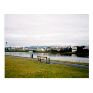Tjorn (The Pond), Reykjavik, Iceland Postcard