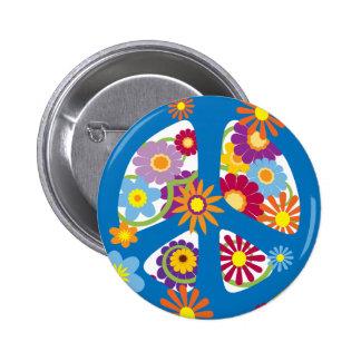 TJP Flower Power 2 Inch Round Button