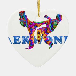 tkd ceramic heart ornament
