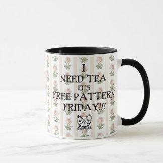 TKEA free pattern friday TEA mug