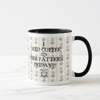 TKEB free pattern friday COFFEE mug