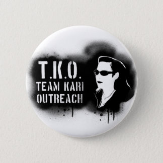 TKO - Black Stencil 2 Inch Round Button