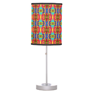 TL - 006 - Red and Cyan - Table Lamp