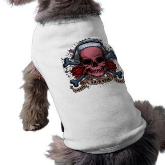 TLC Nurse Skull Dog Shirt
