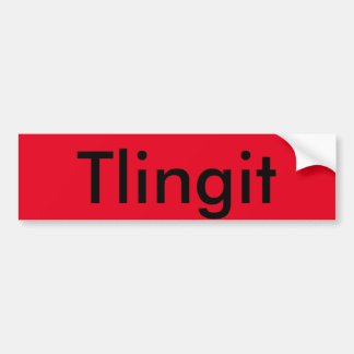 Tlingit sticker bumper sticker