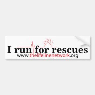 TLN Run for Rescues Bumper Sticker
