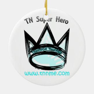 TN Super Hero Holiday Ornament. Ceramic Ornament