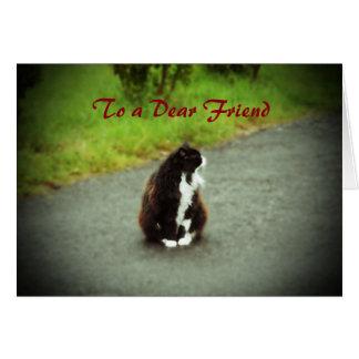 To a Dear friend, greeting card