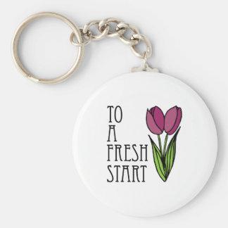 To A Fresh Start Key Chains