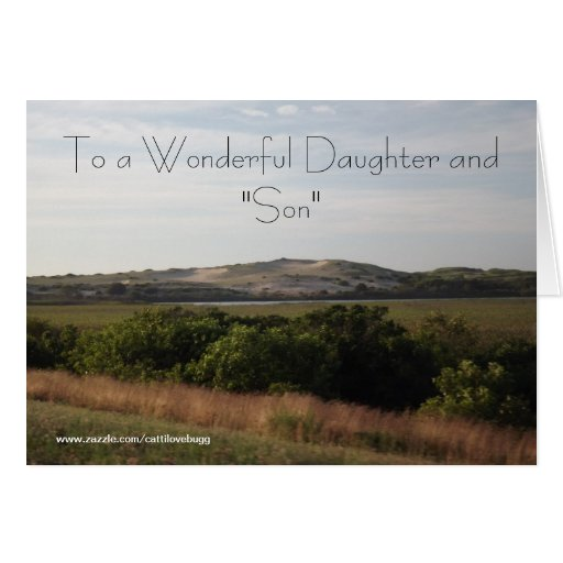 """To a Wonderful Daughter and """"Son"""" Anniversary Card"""