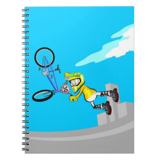 To all diversion and acrobatics in a bicycle BMX Notebook