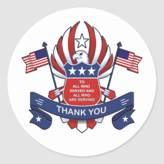 To All Veterans Day Stickers