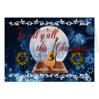 To All Y'all This Christmas Nashville Card - BLU
