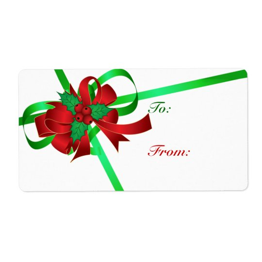 To And From Christmas Gift Tags Shipping Label