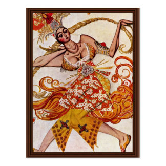 To Ballettfigurine: Firebird By Bakst Léon (Best Q Postcard