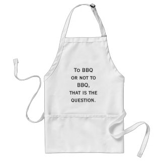 To BBQ or not to BBQ Standard Apron