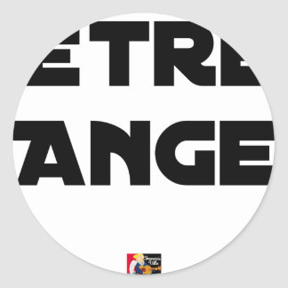 TO BE ANGEL - Word games - François City Classic Round Sticker