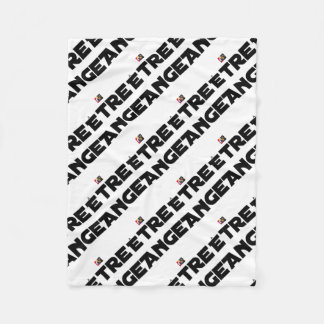 TO BE ANGEL - Word games - François City Fleece Blanket