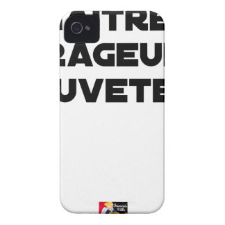 TO BE BORN ANGRY RESCUER - Word games iPhone 4 Cases