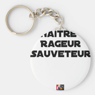 TO BE BORN ANGRY RESCUER - Word games Keychain