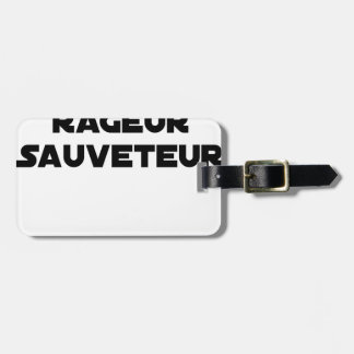 TO BE BORN ANGRY RESCUER - Word games Luggage Tag