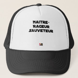 TO BE BORN ANGRY RESCUER - Word games Trucker Hat