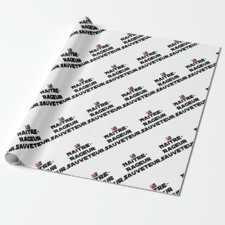 TO BE BORN ANGRY RESCUER - Word games Wrapping Paper