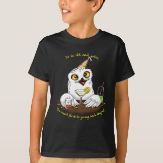 To be old and wise Owl T-Shirt