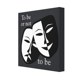To be or not to be Shakespeare Canvas