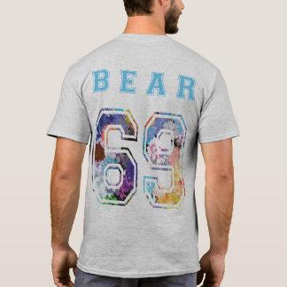 to bear 6 9 flowers blue back T-Shirt